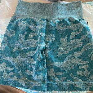 NVGTN Teal Camo Shorts